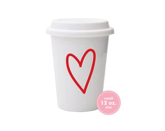 To-Go Coffee Cups (small 12 oz.) | Love! (red)