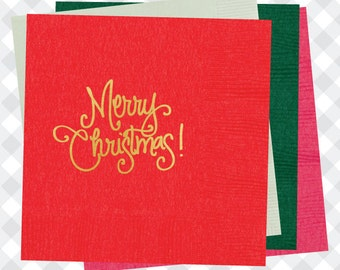 Merry Christmas Napkins (Qty 25)