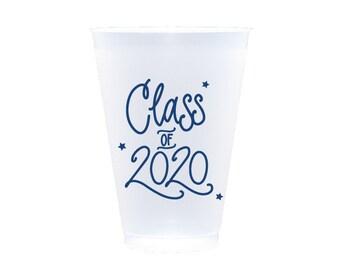 2020 Graduation | Frost Flex Cups (12 oz.) - NAVY INK (in-stock!)