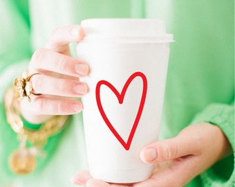 To-Go Coffee Cups | Love! (red)
