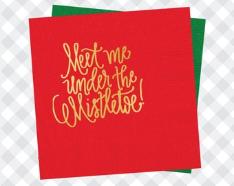 Mistletoe Napkins (Qty 25)