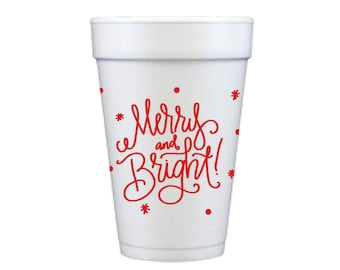 Foam Cups | Merry & Bright (red)