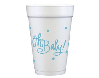 Foam Cups | Oh Baby (blue)