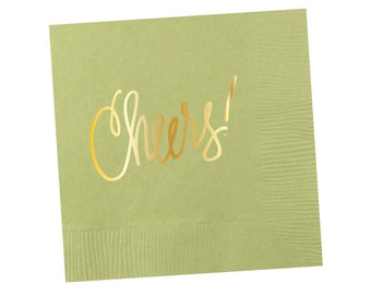 Napkins | Cheers - Mint Green (in stock)