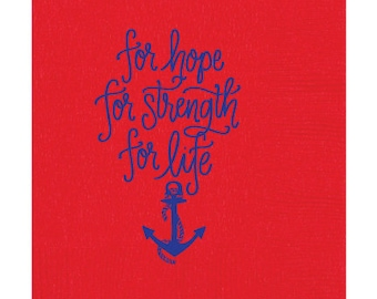 Delta Gamma Anchor  Napkins (Qty 25)