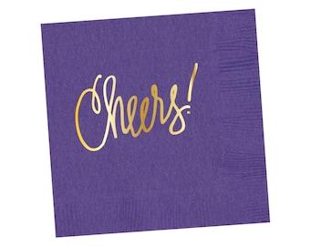 Napkins | Cheers - Purple (in stock)