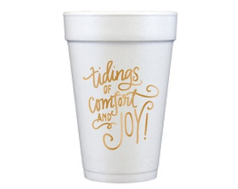 Foam Cups | Comfort & Joy (gold)