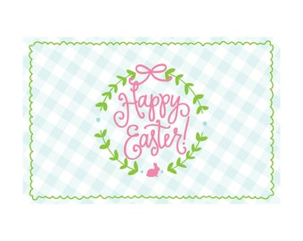 Happy Easter! (gingham) | Paper Placemats