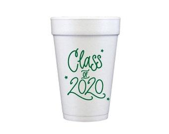 2020 Graduation | Foam Cups - HUNTER GREEN INK (in-stock!)