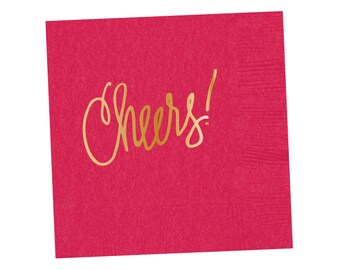 Napkins | Cheers - Hot Pink (in stock)