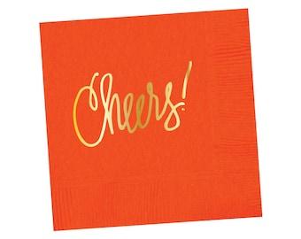 Napkins | Cheers - Orange (in stock)