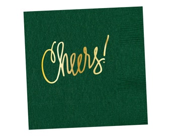 Napkins | Cheers - Hunter Green (in stock)