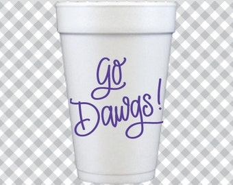 Go Dawgs! Cups - Purple