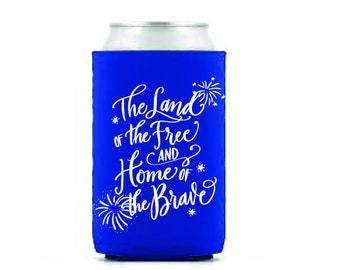 Drink Hugger   4th of July (blue)