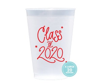 2020 Graduation | Frost Flex Cups (20 oz. - Large!) - RED INK (in-stock!)