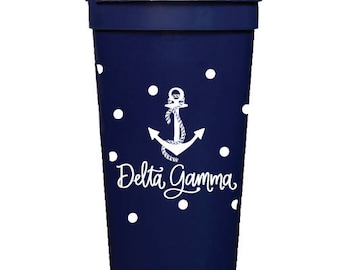 Delta Gamma with Dots | Stadium Cups (Qty 8)