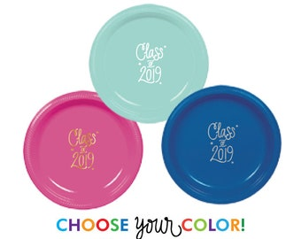Graduation Dinner Plates | Choose YOUR Color!