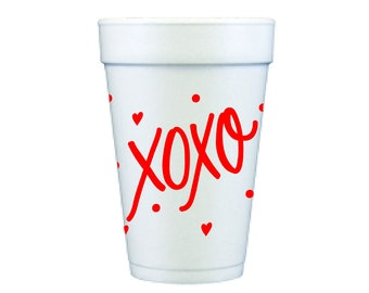 Foam Cups | XOXO (red)