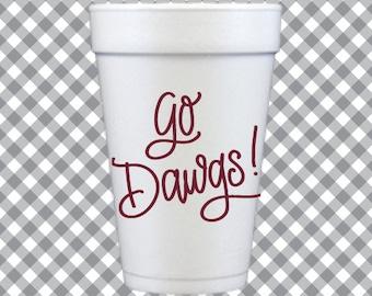 Go Dawgs! Cups - Maroon