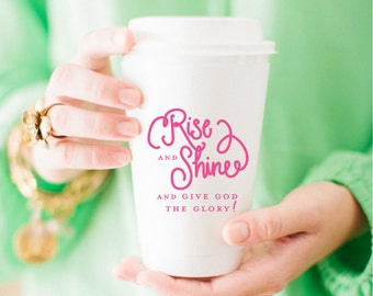 To-Go Coffee Cups | Rise and Shine (pink)