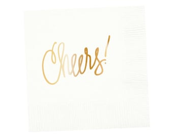 Napkins | Cheers - White (in stock)