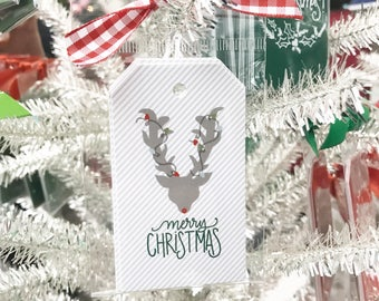 Reindeer Gift Tag (Qty 5)