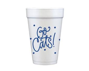 GO CATS   Foam Cups (blue)
