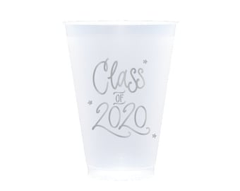 2020 Graduation | Frost Flex Cups (12 oz.) - SILVER INK (in-stock!)