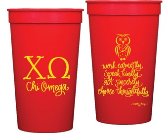 Chi Omega | Stadium Cups (Qty 8)