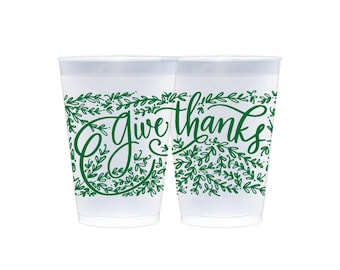Reusable Cup | Give Thanks (green)