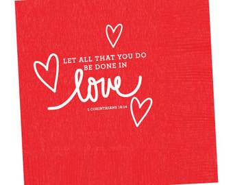 Love Scripture Napkins (Qty 25)