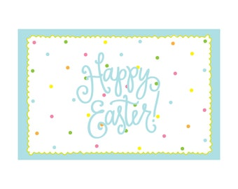 Paper Placemats - Happy Easter (polka dots)