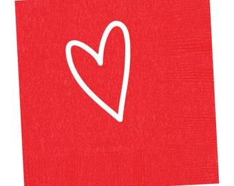 Heart  Napkins (Qty 25)