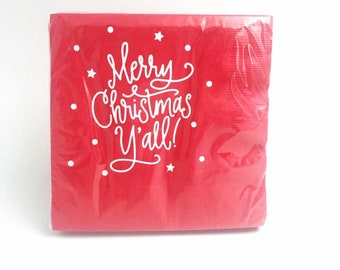 Napkins - Large Luncheon | Merry Christmas Y'all