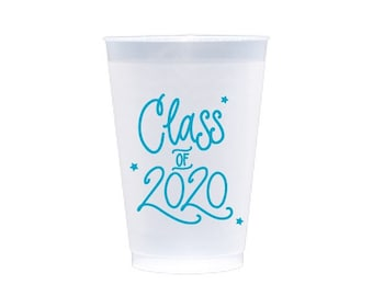 2020 Graduation | Frost Flex Cups (12 oz.) - TURQUOISE INK (in-stock!)