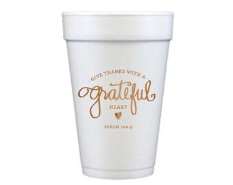 Foam Cups | Grateful Heart (copper)