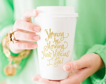 To-Go Coffee Cups | Morning by Morning (gold)