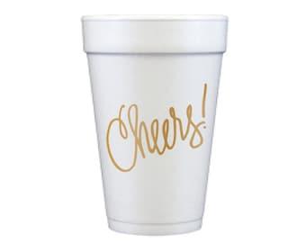 Foam Cups | Cheers! (gold)