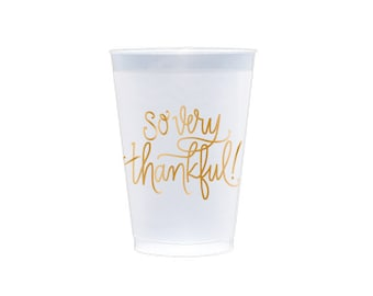 Reusable Cup | So Very Thankful (gold)