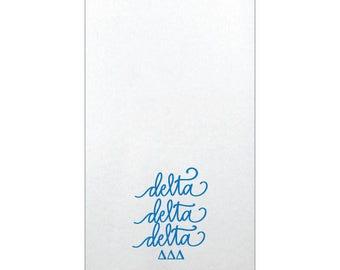 Delta Delta Delta  Linun Guest Towels (Qty 25)