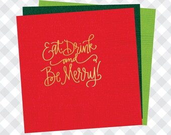 Eat Drink & Be Merry Napkins (Qty 25)