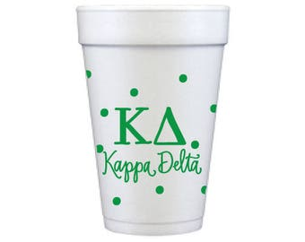 Kappa Delta with Dots | Foam Cups  (Qty 12)