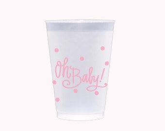 Oh Baby! (pink) | Frosted Flex Cups - 12 oz.