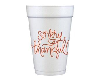 Foam Cups | So Very Thankful (pumpkin orange)