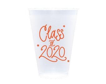 2020 Graduation | Frost Flex Cups (12 oz.) - ORANGE INK (in-stock!)