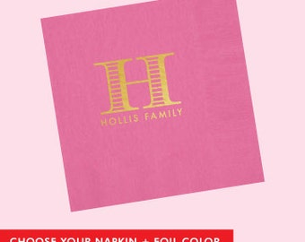 Custom Family Napkin  *no custom printing plate fee*