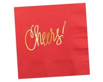 Napkins | Cheers - Coral-y Orange (in stock)