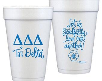 Tri Delta  Foam Double Sided Foam Cups   (Qty 12)