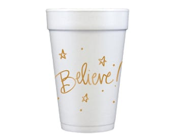 Foam Cups | Believe (gold)