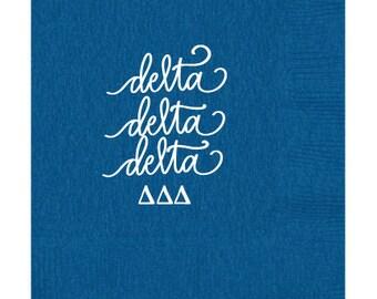 Delta Delta Delta  Beverage Napkins (Qty 25)
